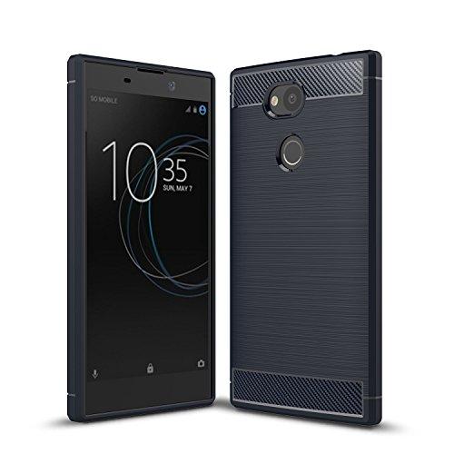 Sony Xperia L2 Funda,cubierta ultra delgada de la carcasa [Durable] [a prueba de golpes] Protección Máxima contra golpes para Sony Xperia L2(Gris) Azul