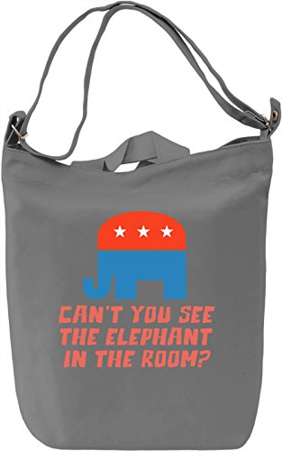 Elephant in the room Borsa Giornaliera Canvas Canvas Day Bag  100% Premium Cotton Canvas  DTG Printing 