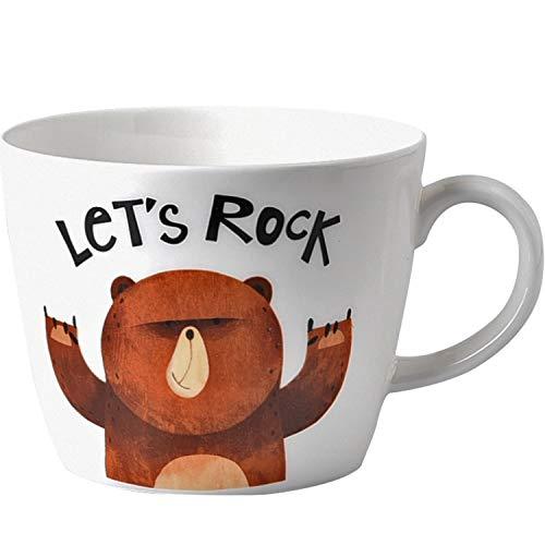 400ml Creative Cartoon Ceramic Mug,Cute Student Breakfast Milk oatmeal Cups,Home Office Bone China Water Mugs