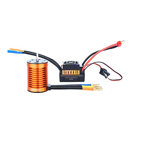 Speed Fountain Boats (Gbell F540 4370KV Waterproof Brushless Motor & 45A ESC & Programming Card for 1/10 RC Racing Car Boat,, Ship from US (F540 4370KV Motor + 45A ESC))