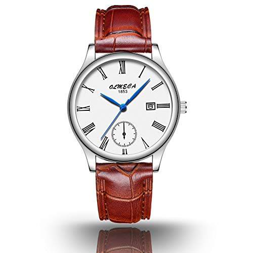 OLMECA Mens Watches and Womens Watches Fashion Dress Casual Simple Wristwatches Waterproof Quartz Women Watch Men Watch for Lover&Couple?40MM&30MM?