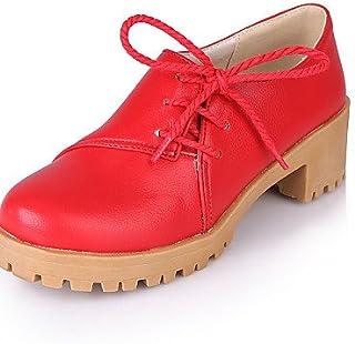 Njx/femme Chaussures Chunky Talon Bout Rond Oxfords décontracté Jaune/rouge/blanc/beige MJKIK
