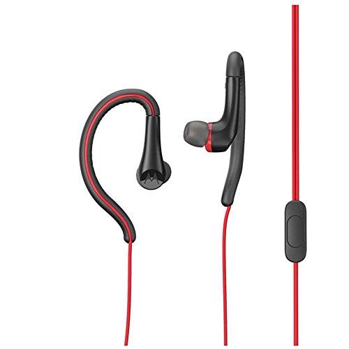 MotorolaEarbuds,SportWater Resistant In-Ear Headphones - Red (SH008 - Motorola Headset Red