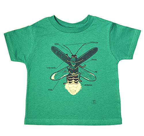 Elemental Ts Green Firefly Glow in The Dark Boys Short Sleeve Cool Science Causal Graphic Tee Shirts T-Shirts -