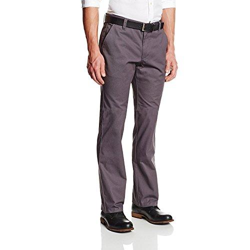 Lee Uniforms Men's Straight Leg College Pant, Heather Grey, 38x32