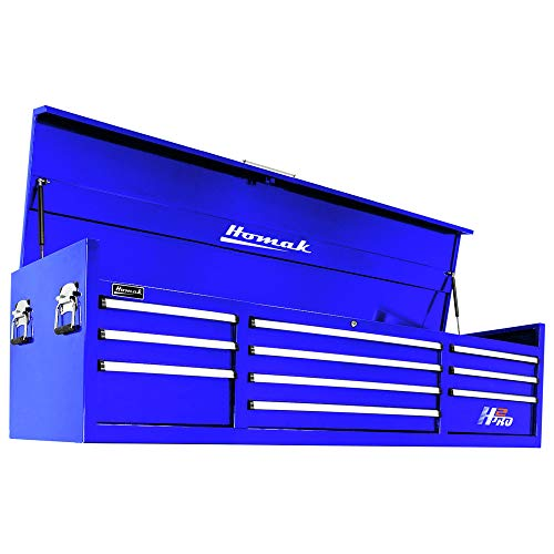 (Homak H2PRO Series 72-Inch 10-Drawer Top Chest, Blue, BL02010720)