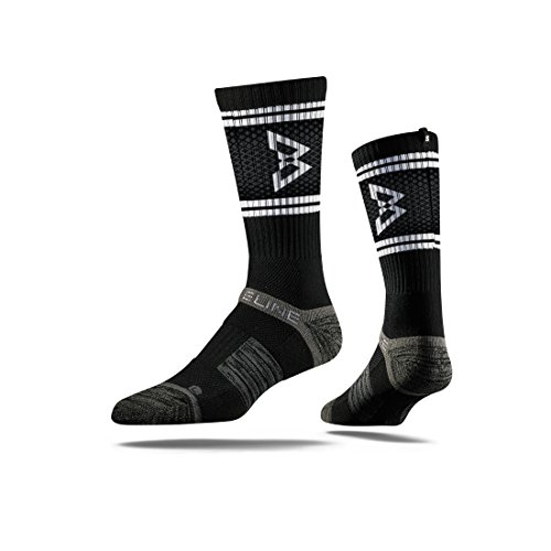 (Strideline Beastmode Premium Athletic Crew Socks, Black, One Size)