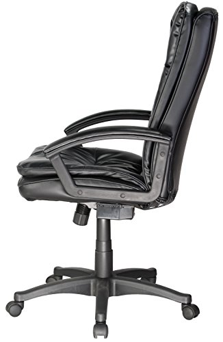 046854166615 - Comfort Products 60-6810 Leather Executive Chair with 5-Motor Massage, Black carousel main 4