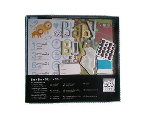 Me & My Big Ideas 8in X 8in Scrapbook Box Kit Baby Boy -