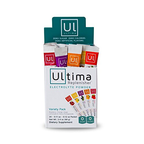 Ultima Replenisher Electrolyte Powder, New Formula Variety Pack, 20 Count Stickpacks