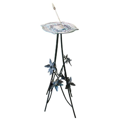 handcrafted metal furniture with Rome B86 Floral Sundial Pedestal Base Wrought Iron With Antique Finish 32 Inch Height on Silver Chain Necklace With Aquamarine as well Wood Hi Fi Racks further Id F 1226222 besides Orlando Cylinder Wire Cage Retro Pendant Light Dark Pewter also Antique Bone And Sodalite Pendant.