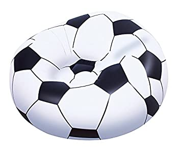 Bestway 45 X 44 X 28 Inch Beanless Soccer Ball Chair