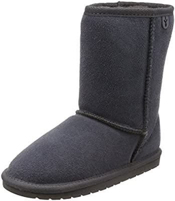a51c74ce9a5 EMU Australia Kids Wallaby Lo Deluxe Wool Boots Size 1 Charcoal ...