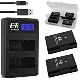 E-TS Upgraded 2000mAh Nikon EN-EL14 Battery Replacement 2 Pack and Dual Charger Campatible Nikon EN-EL14 EN-EL14a and Nikon Coolpix P7000 P7100 P7700 P7800 D3100 D3200 D3300 D5100 D5200 D5300