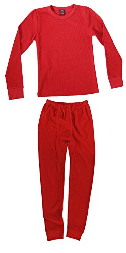 At The Buzzer Thermal Underwear Set for Boys 95362-Red-10/12 -