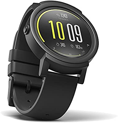 Ticwatch E Shadow Most Comfortable Smart Watch,1 4 inch OLED Display,  Android Wear 2 0,Compatible with iOS and Android, Live an Organized Life