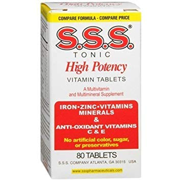 S. S . S. Tonic Vitamins and Minerals 80 (Vitamin Tonic)