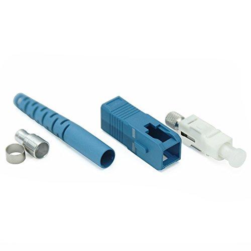 Fiber SC Connector - Fiber Optic Connector Kit Single Mode Simplex UPC 3.0mm - 10 Pack - Beyondtech Ceramic Ferrule Fiber Connectors