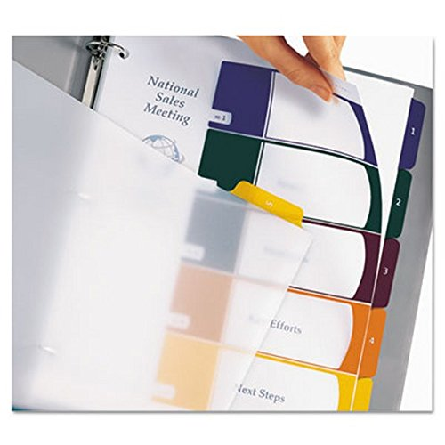 Avery Executive Ready Index Table/Contents Dividers, 8-Tab, 1-8, Letter Size, Assorted, 8 per Set (11276)