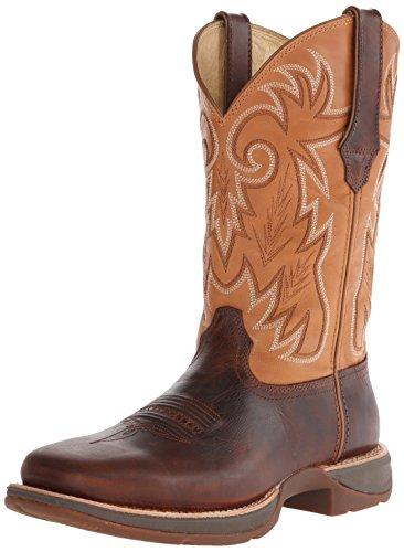 Durango Men's 12 Inch Ramped-Up Rebel Riding Boot, Distressed Brown/Tan, 11 W US