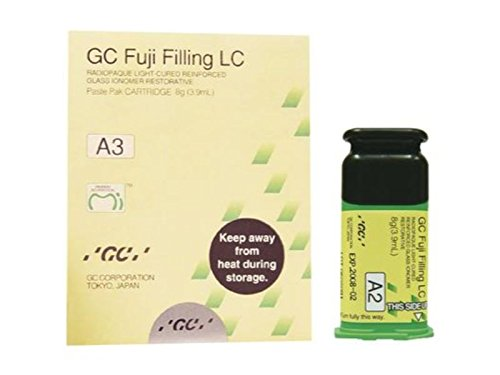 GC America 2476 Fuji Filling Paste-Paste Light-Cured Glass Ionomer Restorative Refill, A3 (8 g (3.9 mL) Cartridge, Mixing Pad)
