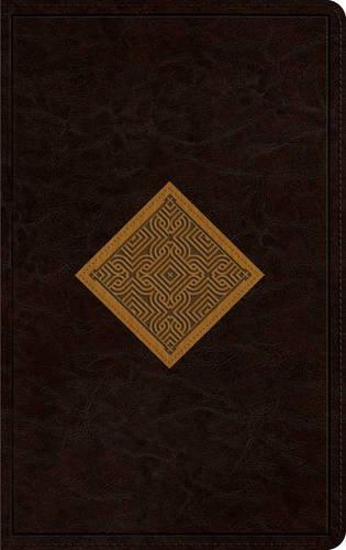 ESV Thinline Bible (TruTone, Brown/Goldenrod, Diamond Weave Design) (Diamond Trutone Esv Design Bible)
