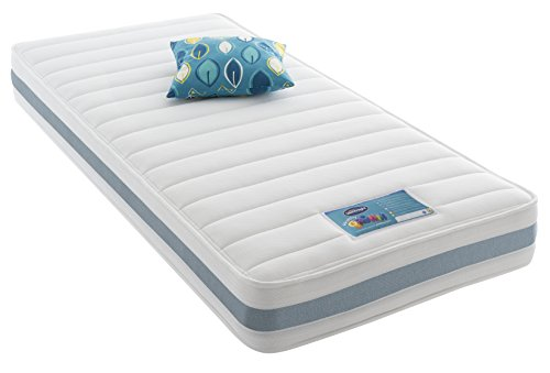 Silentnight Healthy Growth Junior Extra Comfort Kids Mattress, Single, Blue Gingham