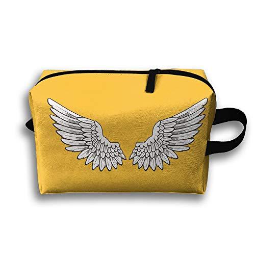 Angel Wings Cosmetic Bags Makeup Organizer Bag Pouch Zipper Purse Handbag Clutch Bag