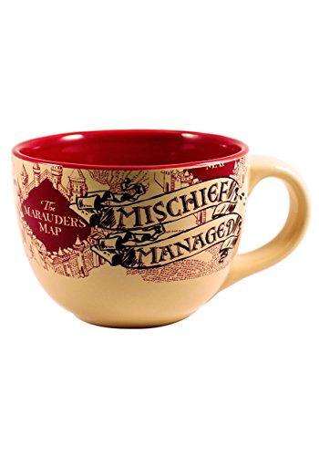 24 Oz Weed - Silver Buffalo HP2724 Harry Potter The Prisoner of Azkaban Mischief Managed Ceramic Soup Mug, 24-Ounces