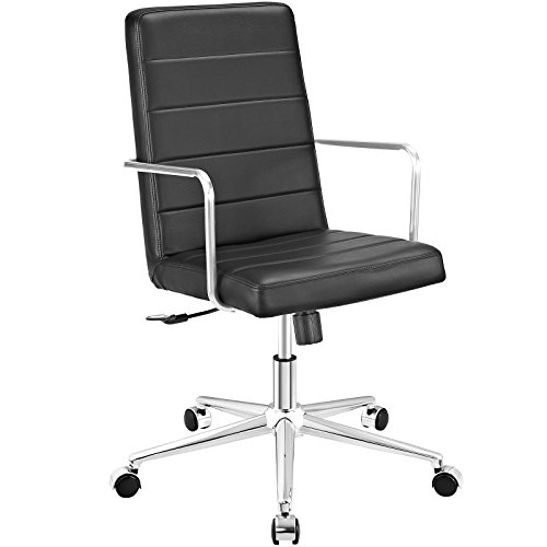 Modway Cavalier Highback Office Chair, Black (Highback Chair Breeze)