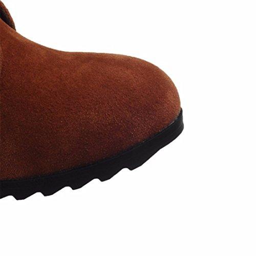 redondo tubo brown El de aumento botas invierno botas de mate tamaño las de planas de PxA7FCP