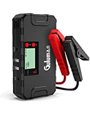Guluman 800A 18000mAh Car Jump Starter, 12V Car Battery Booster Jump Starter Pack, Portable Phone Charger Power Bank with LCD Screen
