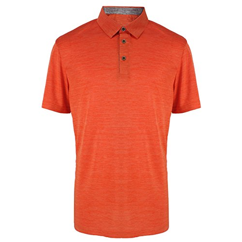 Mens Polo Shirts Quick Dry Tennis Golf T Tops Slim Fit Short Sleeve Active Sport Athletic Clothing Orange M