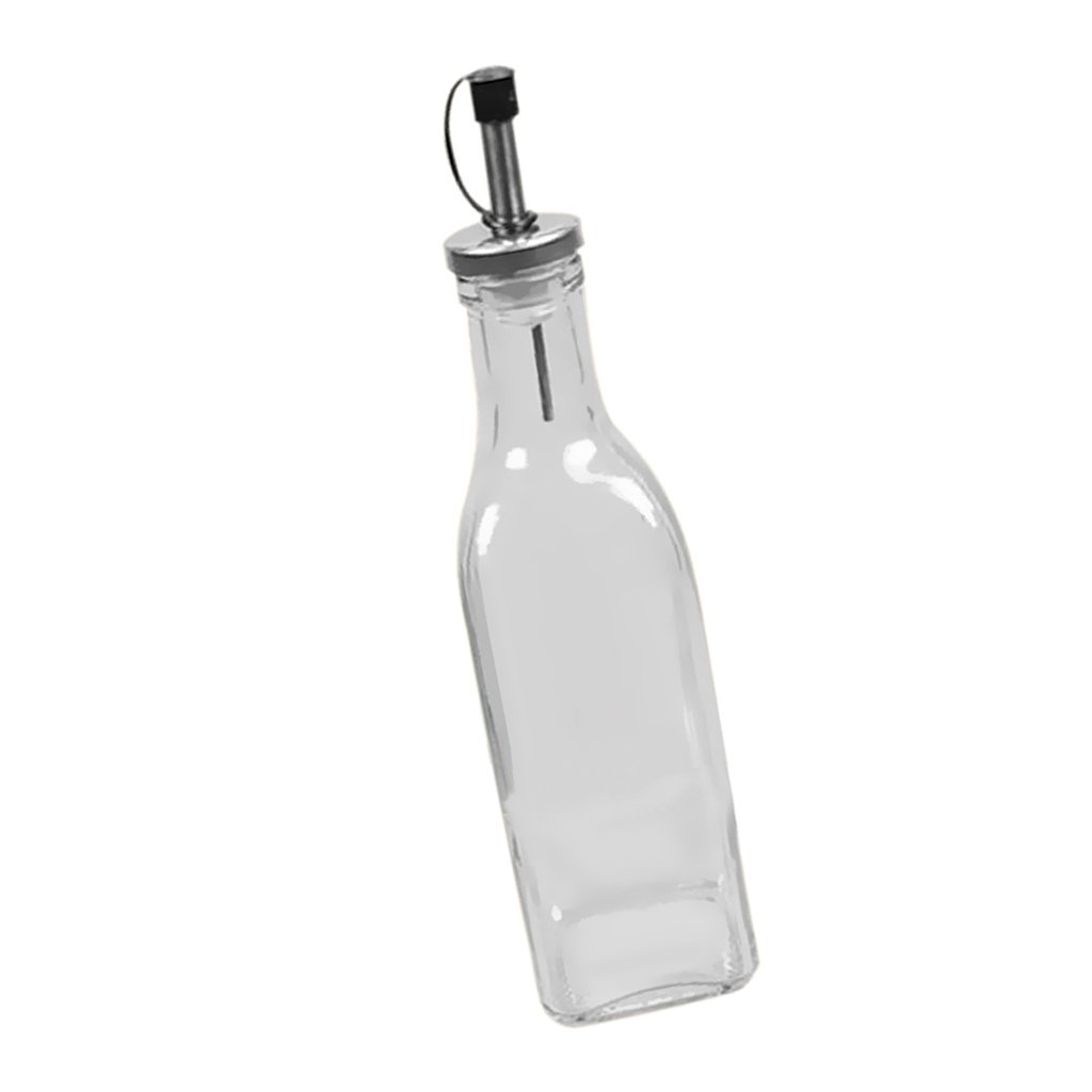 MonkeyJack Kitchen Oil Vinegar Cruet Clear Oil Glass Bottle with Sealed Cap - 150ml