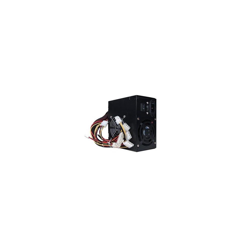 New Power Supply LW500W Dual Fan 20+4 pin ATX, Black. Retail.