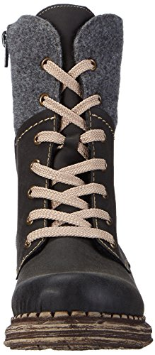 schwarz mujer Rieker Schwarz caño 00 de granit sintético material grau negro bajo botines de q1qxZvfU