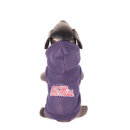 NCAA Ole Miss Rebels Polar Fleece Hooded Dog Jacket, Small
