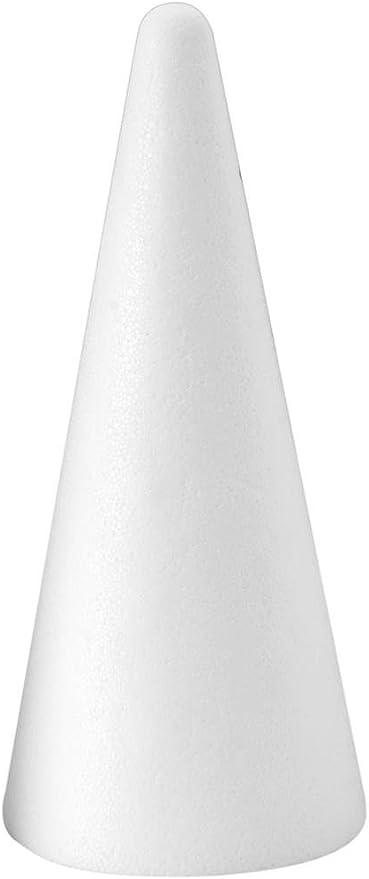 FloraCraft Styrofoam Cone 3.8 Inch x 14.8 Inch White