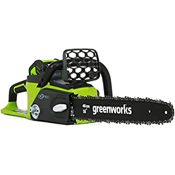 GreenWorks G-MAX 40V 16-Inch Cordless Chainsaw, Battery Not Included, 20322