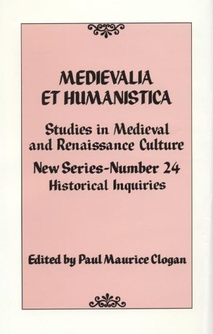 Medievalia et Humanistica, No. 24
