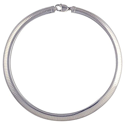 3 Mm Omega Bracelet (3mm Sterling Silver Italian Flat Omega Chain Collar Necklace or Bracelet 24
