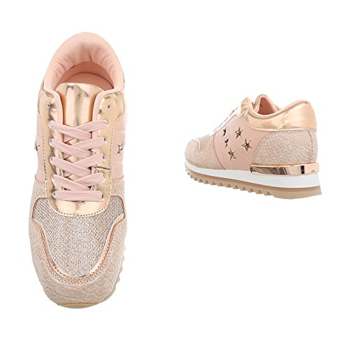 Donna Altrosa da Sneaker Scarpe Design Zeppa G Ital Sneakers High 127 q4RaT