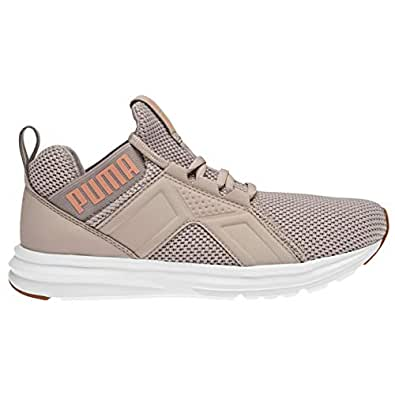 Official Brand Puma Enzo Weave Womens Trainers Shoes Athleisure Running Sneakers Footwear Silver/Peach (UK3) (EU35.5) (US5.5)