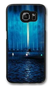 Fountain Night Polycarbonate Hard Case Cover for Samsung S6/Samsung Galaxy S6 Black wangjiang maoyi
