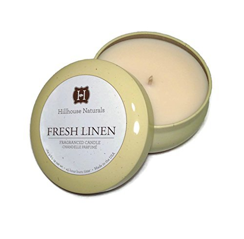 Hillhouse Naturals Fresh Linen Candle Tin, 6.5 Ounces by Hillhouse Naturals
