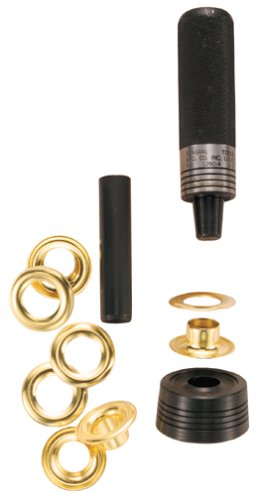 General Tools 1260-0 Solid Brass Grommet Kit, 1/4-Inch