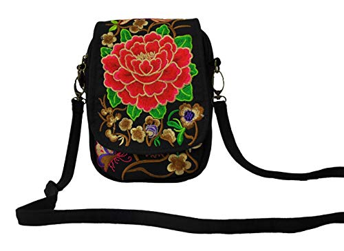Backpack Ethnic Embroidered Girls Handmade Women Backpack Flower Vintage School Bag Bag 01 Travel Canvas LeaLac Orange Rucksack wB8zfz