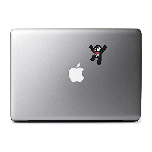 8-Bit Venom (Jumping) Decal for MacBook, iPad Mini, iPhone 5S, Samsung Galaxy S3 S4, Nexus, HTC One, Nokia Lumia, Blackberry ()