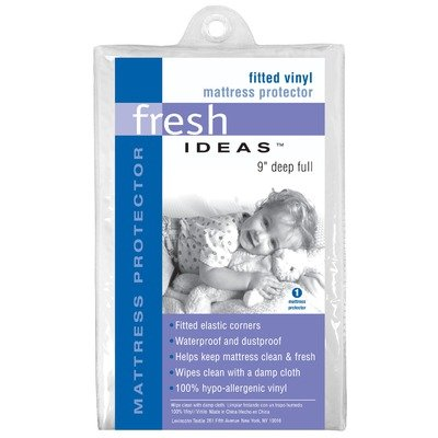 Fresh Ideas Waterproof Mattress Protector 100% Vinyl Hypoallergenic, Twin