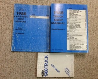 - 1988 FORD RANGER & BRONCO II Service Shop Repair Manual SET W PRE DELIV & SPECS